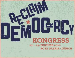 EulachTaler am Reclaim Democracy Kongress