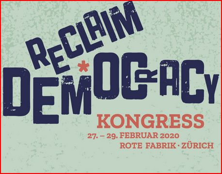 EulachTaler am Reclaim Democracy Kongress